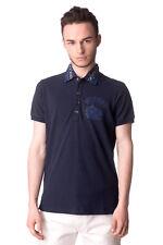 RRP €115 DIESEL Size XS Men's T-SERPICO-GR Distressed Pique Cotton Polo Shirt