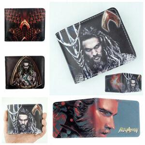 Aquaman Wallet Cool Short Bifold Purse Wallets Gifts