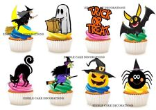 30 Halloween STAND UP Cupcake Fairy Cake Toppers Edible Rice Decorations