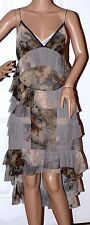 New $1685 CHRIS BENZ Jemima Silk Elsye Walker Runway Dress Ruffle Silk Sz 4