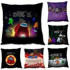 Among Us Game Fans Cover throw Pillow Case Square Anime Bedroom Gift sofa decor
