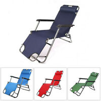 New Foldable Reclining Patio Chaise Lounge Chair Pool Lawn Indoor&Outdoor Beach