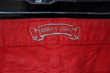 Authentic Robin's Jeans Red Racer Jeans Quilted Knee