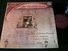 DUO CABRISAS-FARACH Asi Cantaba Cuba / Cuba LP PANART RECORDS L.P. 3008