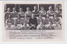 FOOTBALL POSTAL HISTORY ORIGINAL BIRMINGHAM CITY 1947 TEAM PHOTO POSTCARD