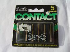 WILKINSON CONTACT 5 Bilama per rasoi testina snodabile  vintage '80