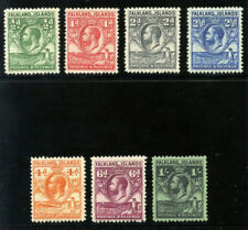 "Falkland Islands 1929 KGV ""Whale & Penguin"" short set to 1/- MLH. SG 116-122."