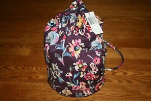Vera Bradley Iconic Ditty Bag Indiana Rose floral case makeup travel RARE NEW