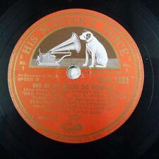 78 rpm TIANA LEMNITZ - WALTER LUTZ und ob die wolke sie verhullt DA 1881