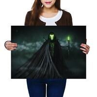 A2 | Misty Green Lord Horror Spooky - Size A2 Poster Print Photo Art Gift #14096