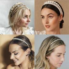 Lady Women Boho Full Pearl Sweet Headband Hair Band Clip Hoop Accessories