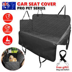 Premium Pet Car Seat Cover Protector Dog Cat Nonslip Hammock Waterproof Mat Belt