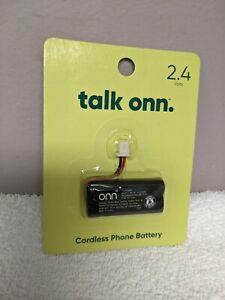 Onn 100009993 Rechargeable Cordless Phone Battery, 2.4V/550mAh NiMH