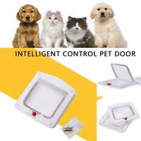 Pet Door Dog Flap Extra Large 2 Way Lockable Entrance Large White Gate F2M2