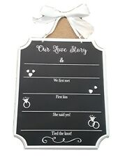 our love story wedding chalk board