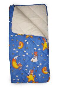 Kinderschlafsack Schlafsack Kind Baby 2 in 1 Steppdecke Mond Teddy 6900/70x140
