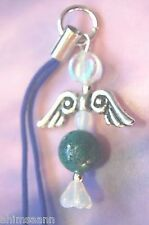 AZURITE & MALACHITE Crystal Angel Mobile Phone Charm
