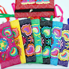 9 colors ethnic embroidery small clutches bags vintage fashion women pocket LY