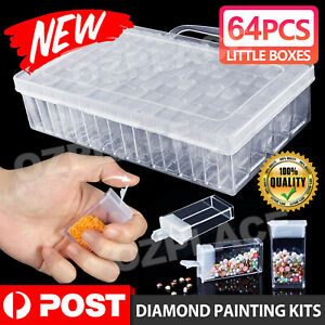 New 64 Grid Diamond Painting Storage Box Art Nail Bead Accessories Case Kit