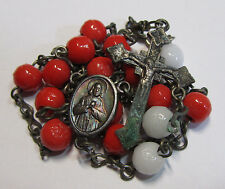 † HTF ANTIQUE ST FILOMENA PHILOMENA / CURES D' ARS GLASS CHAPLET CONTROVERSIAL †