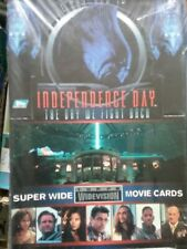 INDEPENDENCE DAY SUPER WIDE MOVIE CARDS    SEALED BOX