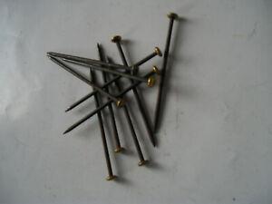 MEROX Nägel gebläut mit Messingkopf 2,5 x 60 mm Blister
