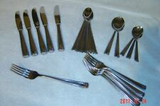 22 pcs Towle Lauffer Rose Gadroon Stainless GERMANY Knives Forks Spoons Ice Tea