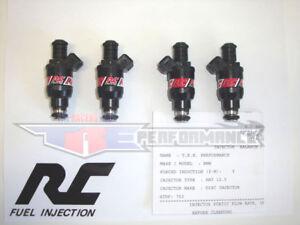 RC 1000cc Flowmatched Fuel Injectors fit 420a 2.0L 2.4L DOHC Bosch 100 lb/hr NEW