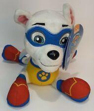 "Paw Patrol Plush Apollo Super Pup 6"" Bean Bag Plush Dog with Tag Light wear"