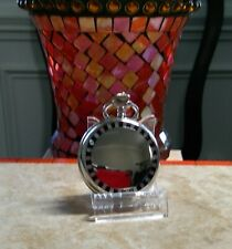 With Onyx And Pearl Trim Colibri silver Pocket Watch Black Face