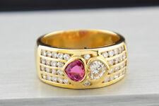 rubin-diamant ANILLO FORMA DE CORAZÓN ORO AMARILLO 750