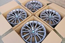 "4 x Genuine Original BMW 5 Series F10 F11 18"" 454 alloy wheels 6857668 8J"