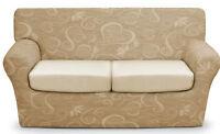 Copridivano 2 posti x divano millerighe copri divano ottoman cuore panna
