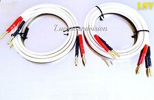 NEW QED  XT-400 AUDIO SPEAKER CABLES 2x2m (Pair) Terminated