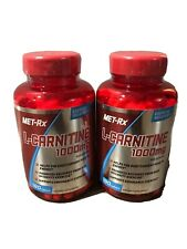 2-Pack: Met-Rx L-Carnitine 1000mg, 180 Caplets, Endurance Support - EXP 7/2020
