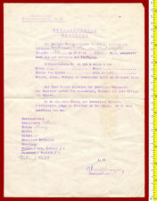 #31347 Greece 1943 [German occup.] Original military attachment form for animals