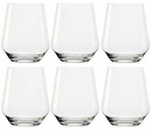 Set of 6 Drinking Glasses Round Whiskey Glasses Set Clear Glass Tumblers 370ml