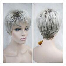 Wigs,Femme âgée, Gris blanc court santé cosplay de cheveux Perruques