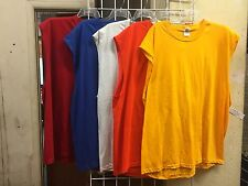 Lot of 5 JERZEES Mens 3XL Heavyweight Cotton Sleeveless Muscle  T-Shirts 3X