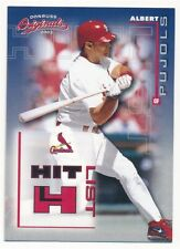 ALBERT PUJOLS 2002 DONRUSS ORIGINALS #8 HIT LIST CARDINALS ANGELS #0641/1500 F5