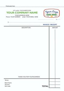 50 Personalised A5 Duplicate NCR Invoice Book Colour / Sales Book / Receipts