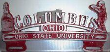 Ohio State University License plate topper