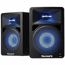 2 X Numark N-wave 580l Active 40w Studio Monitor Speakers With Light FX Leads