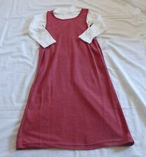 GIRLS size 5 White long sleeve top & maroon dress set NEW