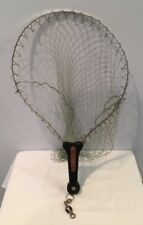 New listing Vintage Wide Mouth Fishing Net With Aluminum Frame In Handle Made In Italy Mint