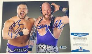 Impact Wrestling Alexander and Page Dual Signed The North 8X10 Photo TNA BAS COA