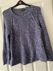 FAB LADIES BLUE CHUNKY JUMPER TOP UK SIZE 18 GREAT CONDITION