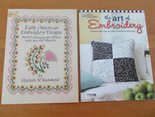 Embroidery Craft Booklets Lot/2 Engelbreit Early American Vintage For Pet Rescue
