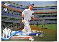 2018 Topps Chrome Update GLEYBER TORRES Rookie Debut #HMT33 New York Yankees RC