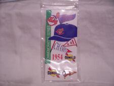 CLEVELAND INDIANS BASEBALL CAP 1954 LAPEL HAT PIN  SUNOCO COMMEMORATIVE SERIES